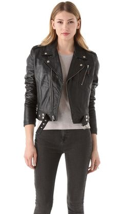 Classic moto BLK DNM Leather Motorcycle Jacket