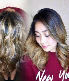 Caramel blonde balayage & freshly hair cut.    #hairbyChiyuki for @syk_vns  @schwarzkopfusa @redken5thave @wellahair #caramelbalayage #carameltones #balayage #balayagehighlights #blondish #lowmaintenance #americansalon #modernsalon #behindthechair #hairdresser #lahairstylist by chiyukihair