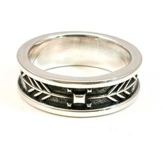 Mens Arrow Tail Ring - Sterling Silver - Native American South Western. $225.00, via Etsy.