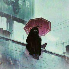 Anime Muslim, Muslim Hijab, Hijab Niqab, Hijab Dp, Rain Photography, Girl Photography Poses, Cartoon Girl Drawing, Girl Cartoon, Best Facebook Profile Picture