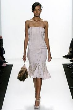 J. Mendel Fall 2004 Ready-to-Wear Fashion Show - Gilles Mendel, Liya Kebede