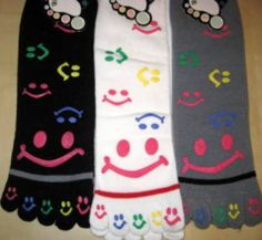 smiley face toe socks