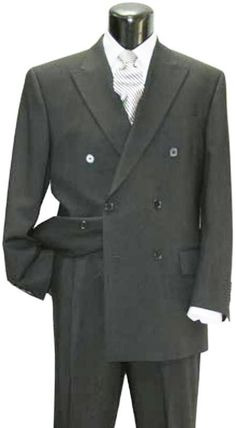 SKU# EMIL_C76_DPP  lower quality  6 on 2 Closer style Double Breasted Suit $99