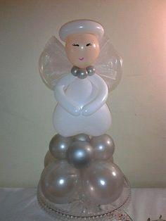 más y más manualidades: Bellas decoraciones de ángeles usando globos