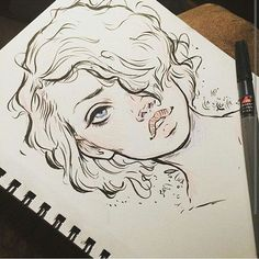 By @missupacey - #Artatte.                                                                                                                                                                                 Más #BeautifulDrawings