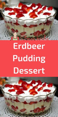Pudding Desserts, Köstliche Desserts, Christmas Deserts, Marzipan, Smoothies, Brunch, Food And Drink, Low Carb, Sweets