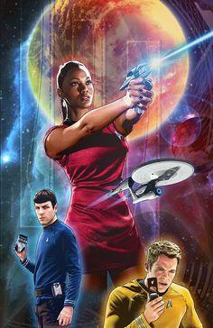 Star Trek 47 Cover by Joe Corroney Star Trek Warp, Star Trek Ships, Star Trek Enterprise, Star Trek Movies, Sci Fi Movies, The Final Frontier, Pulp, Star Trek Universe, Love Stars