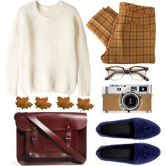 Falling leaves, created by astoriachung on Polyvore