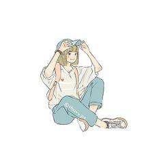 Kawaii Wallpaper, Cartoon Wallpaper, Anime Art Girl, Manga Art, Pretty Art, Cute Art, Girl Cartoon, Cartoon Art, Character Art