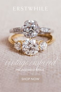 Recreated from authentic original designs from our sold archive! Recreated from authentic original designs from our sold archive! Cute Promise Rings, Cute Rings, Pretty Rings, Vintage Inspired Engagement Rings, Dream Engagement Rings, Designer Engagement Rings, Wedding Ring Bands, Wedding Jewelry, Cute Jewelry
