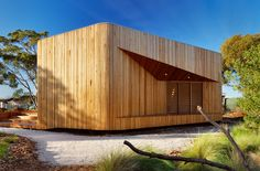Set in the school's forest landscape, the building acts as a piece of furniture – something to be sat in, on and around – while students engage with the natural surrounds and a curriculum focusing on environmental and indigenous themes.