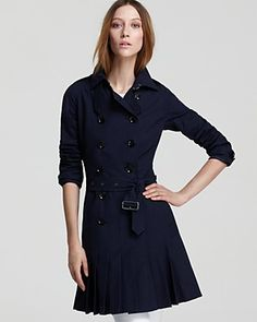 Burberry Brit Devonshire Trench Coat with Skirted Bottom | Bloomingdale's