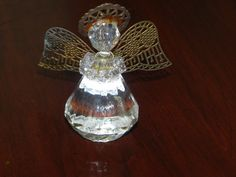 Crystal Angel Christmas Glass Ornament by baublesandblingforu, $6.00