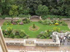 Gardens behind the castle, Casa Loma, Toronto, Ontario