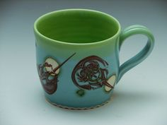 Horseshoe Crab Bubble Mug, Blue Pottery. $36.00, via Etsy.
