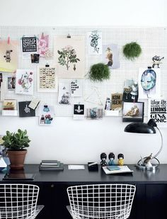 I've been looking for ways to organize the small desk area in my studio [we have a spare room in the garage where Istore my props and sometimes use for photo shoots or messy craft projects]. One idea that I like a lot is using apegboard as a wall storage solution, freeing up space on...