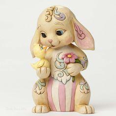 Jim Shore Heartwood Creek Easter Rabbit with Chick 4051399 NIB