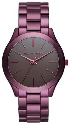 Women's Michael Michael Kors 'Slim Runway' Bracelet Watch, 42Mm