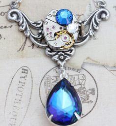 Steampunk Necklace Steam Punk Jewelry by inspiredbyelizabeth