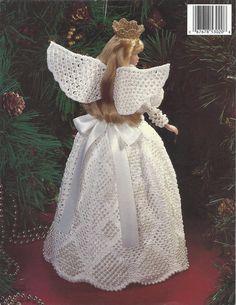 Crochet Pattern Christmas Angel Victorian by KnitKnacksCreations