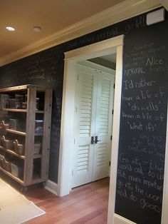 Chalkboard paint wall full of favorite quotes!