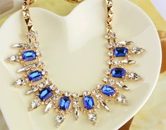 Hot 3 colors Fashion European Style Elegant Punk Rhinestones Choker Pendant Chain Necklace Jewelry Dropshipping