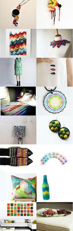 #5 jan by Levchenko Anna Levchenko Anna #etsy #treasury #colorful #bright #january #trends #jewelry #fashion #art #home  #shopping #guide #bohemian #boho #geometric