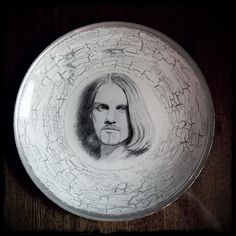 Plate for Ivan. Decoupage of a plate with my drawing.