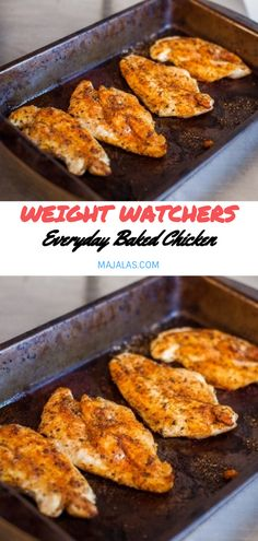 Everyday Baked Chicken - Angie wants to try - Chicken Recipes Poulet Weight Watchers, Plats Weight Watchers, Weight Watchers Diet, Weight Watchers Chicken, Weight Watchers Recipes With Smartpoints, Ww Recipes, Low Carb Recipes, Cooking Recipes, Healthy Recipes