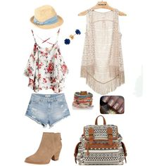summer gold by ramona-damian on Polyvore featuring polyvore, fashion, style, Daytrip, MANGO, Splendid and Scoop