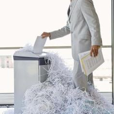 Shred documents you no longer need before indentity thieves get to them.