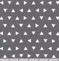 Geo Triangle Fabric Remix Tossed Triangles Grey Kaufman Designer Cotton