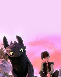 Toothless watches Hiccup drawing. How to Train Your Dragon