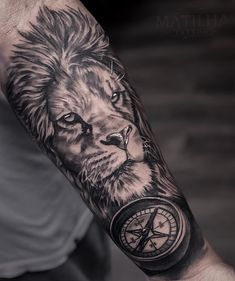 Tattoos Masculinas, Tattoos For Guys, Tatoos, Lion Tattoo, Arm Tattoo, Christian Tattoos, Ink, Inspiration, Games Tattoo