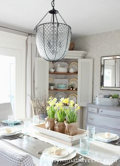 Dining Table Spring Home Tour
