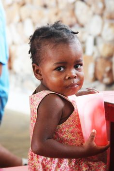 Sweet girl in Haiti. My heart wants to be able to help precious babies like this. <3