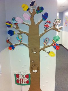 The mitten story and activity will go nicely with this bulletin board idea.