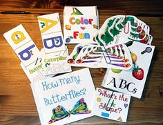 Here's a huge set of resources to accompany the book THE VERY HUNGRY CATERPILLAR by Eric Carle. Includes counting, shapes, colors, size and more!