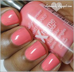 Sally Hansen- Coral Reef. I actually love this nail polish, it's cheap and lasts! Have it on my toes right now