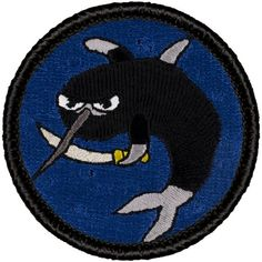 2 Inch Diameter Embroidered Patch Blue-Footed Booby Patch 187