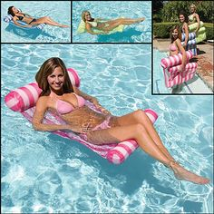 <li>Enjoy hot summer days lounging in the pool with this Poolmaster hammock<li>Flotation device is perfect for the pool, spa or lake<li>Water lounger folds easily for compact storage or travel