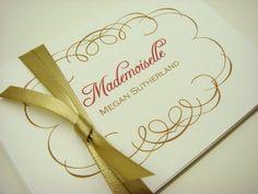 Personalized Stationery Gift Set Elegant by inkpartyemporium