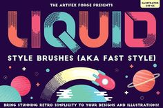 Liquid Style Brushes by The Artifex Forge on @creativemarket