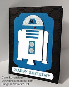 Star Wars Punch Art by - Cards and Paper Crafts at Splitcoaststampers Boy Cards, Kids Cards, Cute Cards, Carte Star Wars, Star Wars Birthday, Diy Birthday, Birthday Design, Sister Birthday, Card Birthday
