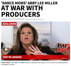 Abby Lee Miller at War with the Producers of DM