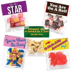 Sweet Treats that tell them how awesome you think they are! Available as a variety pack or as singles.