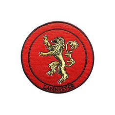 Game of Thrones Patch Lannister Patch Embroidered Movie Patch Iron on Patch Sew on Patches  TO BUY: Comment with your email address and you'll receive a secure checkout link.  Options:  Game of Thrones Patch Lannister Patch Embroidered Movie Patch Iron on Patch Sew on Patches: US$3.99  Iron on Backing  Brighten up t-shirts jeans baby clothes or any other item made of fabric with an easy iron on or sew on patch! Just peal the protective layer paper stick to the fabric and press with a hot…