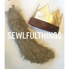 Max Crown and  Wolf Tail-Where the Wild Things Are- Nearly 2 Feet Fast Costume