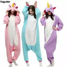 Purple Unicorn Onesie Pajamas Sets Lovers Adult Kigurumi Halloween Cosplay  Christmas Costumes Sleepwear Winter Nightie For e4b06b96e