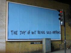 the joy of not being sold anything - Schwerpunkt: Leute, die mir etwas verkaufen wollen: Berater, Verkäufer, Pharmareferenten...
